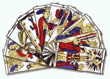 Les superbes cartes du jeu de tarot de marseille avec ses 78 lames